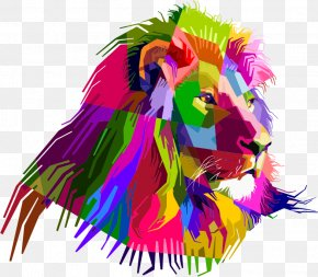 Lion - Lion Tiger Desktop Wallpaper PNG