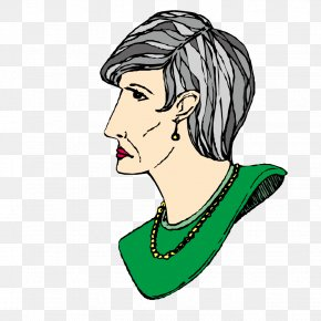 Old Woman With Jewelry Necklace - Necklace Costume Drama Woman Illustration PNG