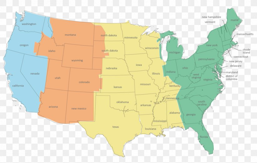 United States Pacific Time Zone World Map, PNG, 960x612px ...