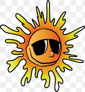 Sun With Glasses - Summer Clip Art PNG