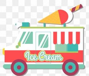 Vector Ice Cream Truck - Ice Cream Cone Ice Cream Van PNG