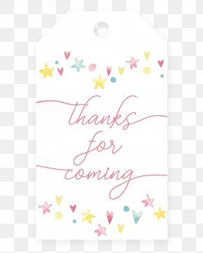 Thank You For Coming - Paper Greeting & Note Cards Wedding Invitation Baby Shower Game PNG