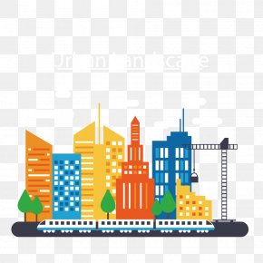 Color Cartoon City Silhouette - Thane Smart Cities Mission Smart City Infographic PNG