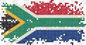 South African Flag Pixel Vector - Flag Of South Africa Illustration PNG
