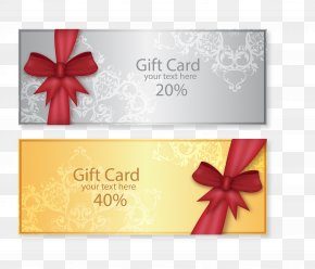 Gift Certificates Vector Material - Wedding Invitation Gift Card Voucher PNG