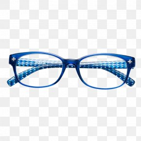 Blue Frame Glasses Frame - Goggles Glasses Blue Designer PNG