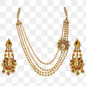 Necklace - Necklace Earring Jewellery Gold Pearl PNG