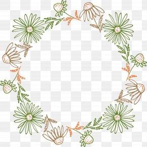 Hand Painted Green Leaves, Flowers - Petal Leaf PNG