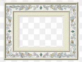 Silver Frame - Silver Picture Frame Gold Copper Pattern PNG