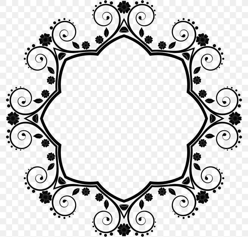 Clip Art Borders And Frames Flower Image Design, PNG, 782x782px, Borders And Frames, Blackandwhite, Floral Design, Flower, Goundamani Download Free