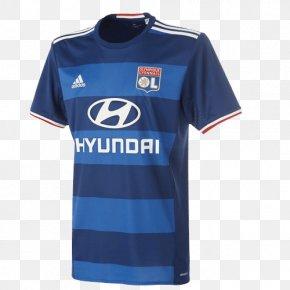 T-shirt - Olympique Lyonnais Tracksuit T-shirt Jersey PNG