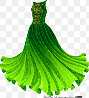 Dress - Dress Ball Gown Doll Clothing PNG