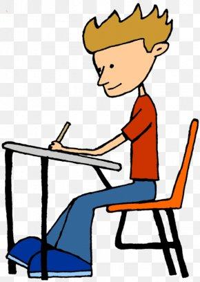 Boy Desk Cliparts - Student Doing School Teacher Clip Art PNG