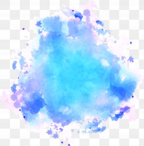 Sky Blue Watercolor Graffiti - Pinkpop Festival Watercolor Painting Texture PNG