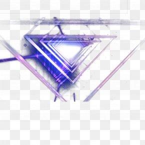 Blue Triangle Light - Light Triangle PNG
