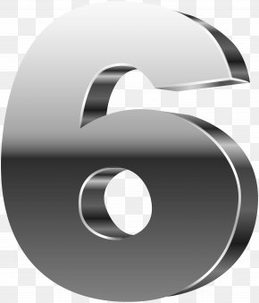 Number Six 3D Silver Clip Art Image - Number Clip Art PNG