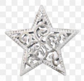 Silver Metal Pentagram - Pentagram Silver Metal Icon PNG