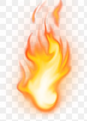 Yellow Simple Flame Effect Element - Flame Computer Software PNG