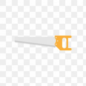 Yellow Hand Saw - Grey Clip Art PNG