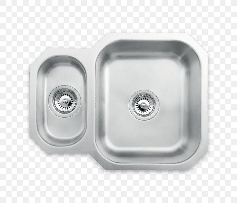 Kitchen Sink Tap Stainless Steel Brushed Metal, PNG, 700x700px, Sink, Bathroom, Bathroom Sink, Bowl, Brushed Metal Download Free