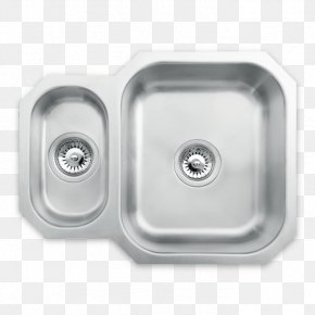 Sink - Kitchen Sink Tap Stainless Steel Brushed Metal PNG