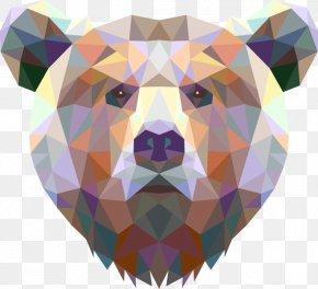 Bear - American Black Bear Koala Geometry Giant Panda PNG