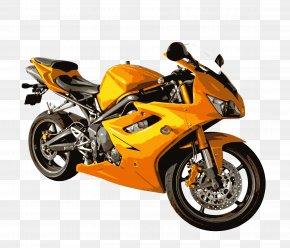 Cartoon Yellow Motorcycle Vector Material Library - Car Motorcycle Vehicle PNG