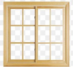 Yellow Wood Glass Windows - Window Aluminium Glazing Door PNG