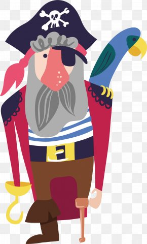 Hand Painted Pirate Vector - Piracy Spoonflower Clip Art PNG