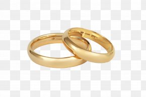 Ring - Wedding Ring Gold Silver Jewellery Engagement PNG