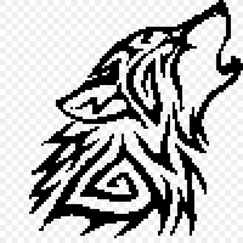 Gray Wolf Minecraft Pixel Art Png 1200x1200px Watercolor