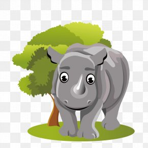 Jungle Calf - Rhinoceros Cartoon PNG