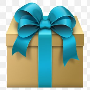 Gift Box With Blue Bow Free Clipart - Gift Box Ribbon Clip Art PNG