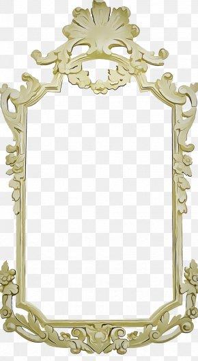 Picture Frame Film Frame - Golden Background Frame PNG