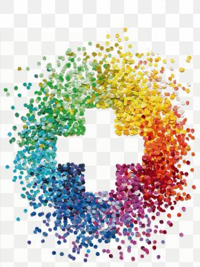 Rainbow Color Round Collage Cross - Graphic Design Collage PNG