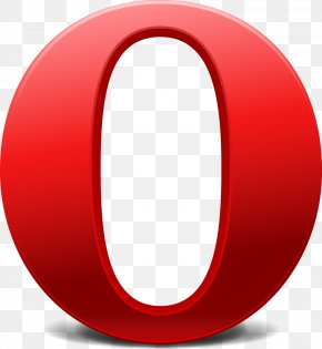 Opera Logo - Red Circle PNG