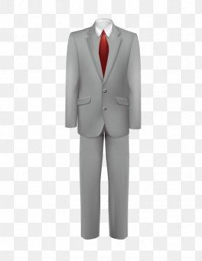 Gray Suit - Tuxedo Suit Necktie PNG