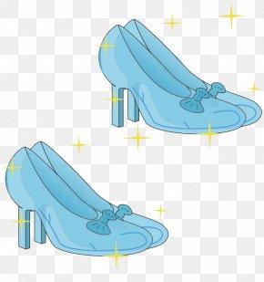 Blue Texture Slipper - Blue Shoe PNG