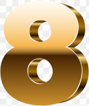 Number Eight 3D Gold Clip Art Image - Number 3D Computer Graphics Clip Art PNG