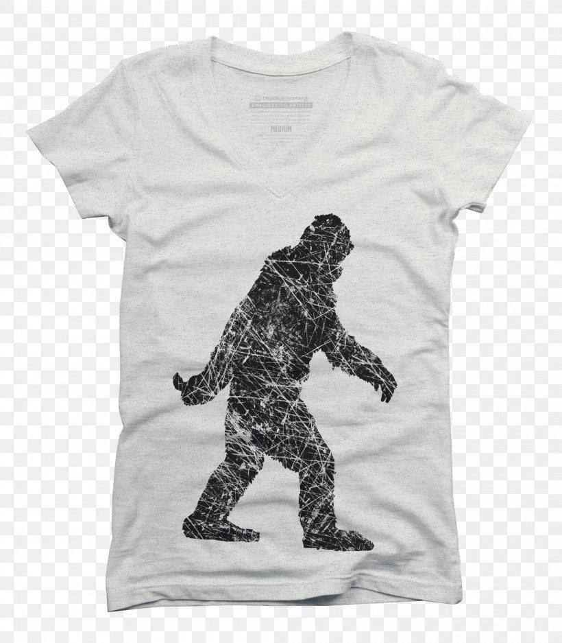 Bigfoot T-shirt Clip Art, PNG, 2100x2400px, Bigfoot, Art, Black, Clothing, Drawing Download Free