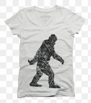 T-shirt - Bigfoot T-shirt Clip Art PNG