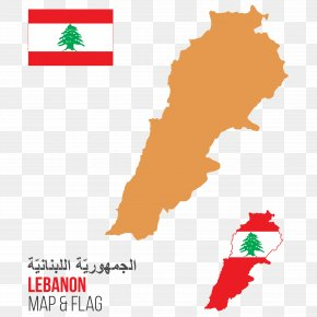 Lebanon Vector Map - Lebanon Vector Map Illustration PNG