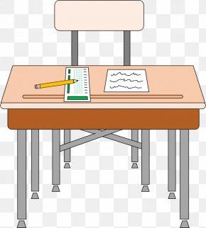 Class Desk Cliparts - Desk Student Table Clip Art PNG