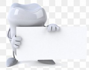 Holding A Blank Card, 3D Villain Teeth - Human Tooth 3D Computer Graphics Microsoft PowerPoint Teeth Cleaning PNG