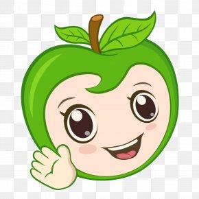 Green Apple Smile - Apple Cartoon Auglis Clip Art PNG