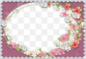 Purple Flowers Flowers Background Frame - Picture Frames Flower PNG