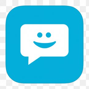 MetroUI Apps Messaging - Blue Emoticon Area Text PNG