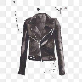 Jacket - Leather Jacket Coat Printing Suit PNG