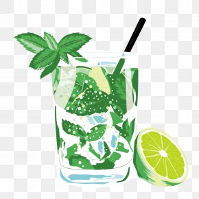 Vector Lemonade - Mojito Juice Lemonade Drink Poster PNG