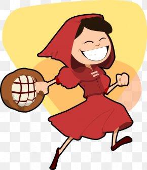 Red Riding Hood Clipart - Big Bad Wolf Little Red Riding Hood Cartoon Clip Art PNG